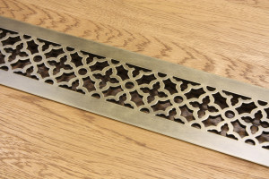 Алюминиевая решетка под латунь