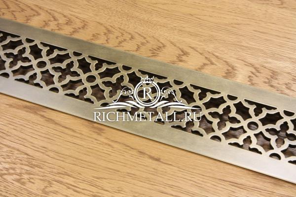 Решетка из алюминия с декором под стареную латунь