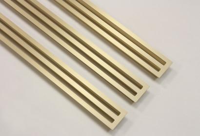 Щелевые решетки из матовой латуни
