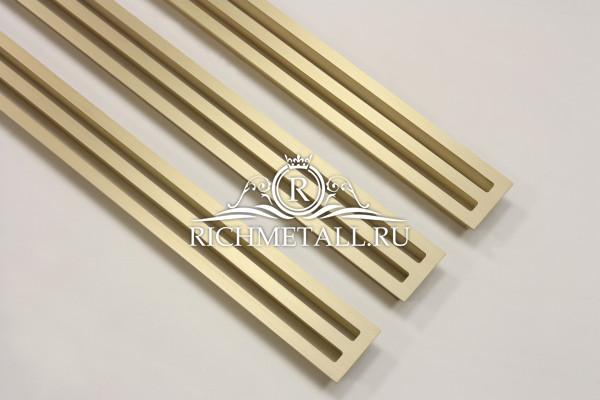 Матовые шлифованные щелевые решетки из латуни