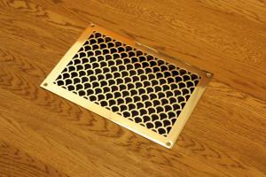 Золотая полированная решетка