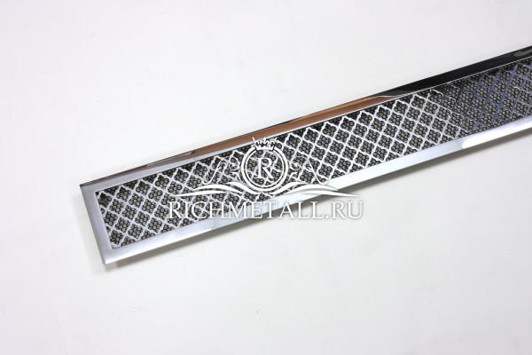 Полированная стальная решетка под хром с узором классик