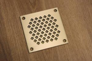Решетка латунная квадратная с сеткой