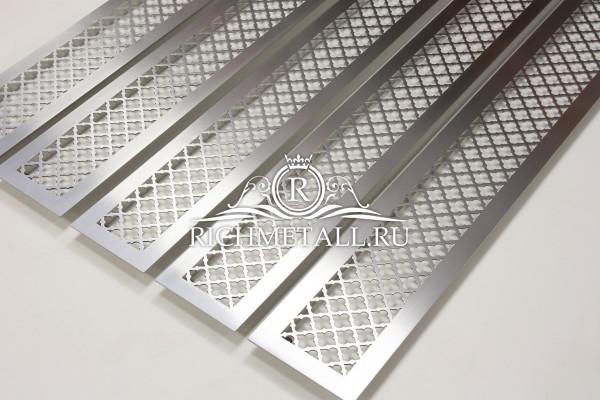 Шлифованные стальные решетки из нержавеющей стали с классическим узором