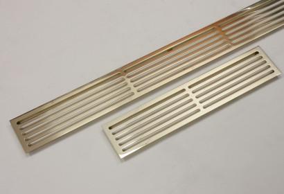 Полированные щелевые решетки из латуни