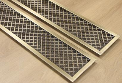 Латунные решетки с накладной рамкой