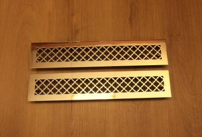 Полированные латунные решетки с классическим узором