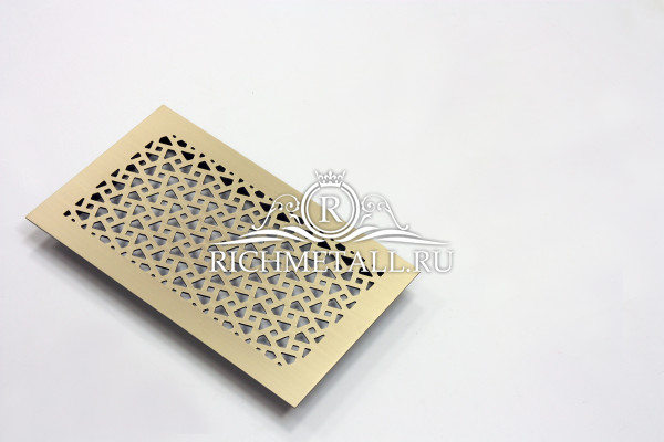 Шлифованная матовая решетка под матовым лаком с геометрическим рассыпным узором