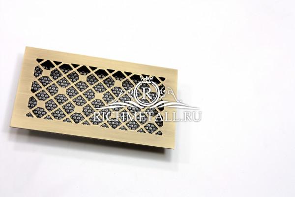 Состаренная латунная решетка с узором ромбы с узлами