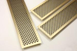 Классические латунные решетки для вентиляции