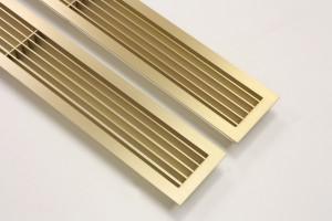Золотые шлифованные решетки с ламелями