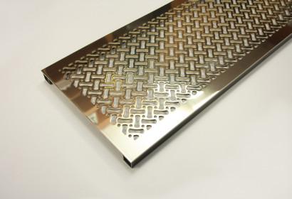 Полированная напольная решетка из латуни