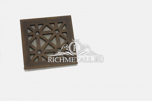 Декорированная под бронзу стальная квадратная решетка с треугольными узорами