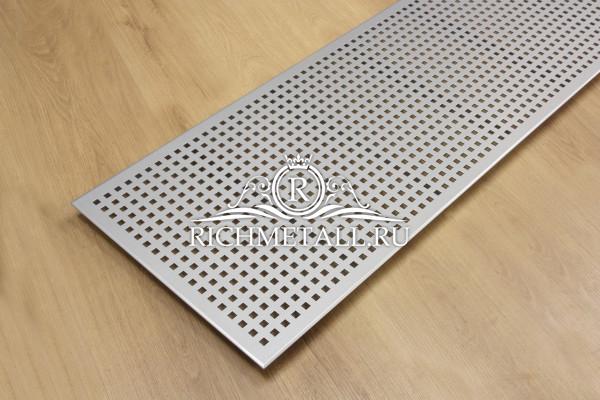 Экран из стали с покрытием серебристый металлик