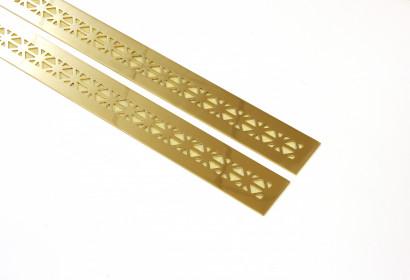 Узкие решетки из полированной латуни