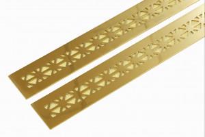 Узкие латунные решетки для мебели