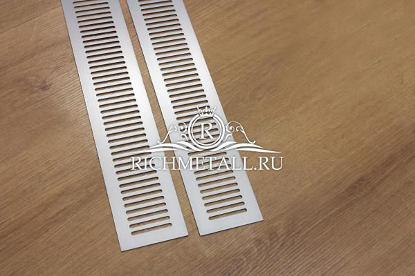 Шлифованная алюминиевая решетка с поперечными овалами