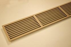 щелевая решетка из латуни
